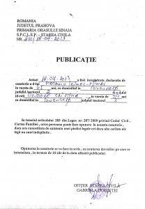 PUBLICATIE CASATORIE MOCANU