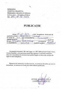 PUBLICATIE CASATORIE PARASCHIV