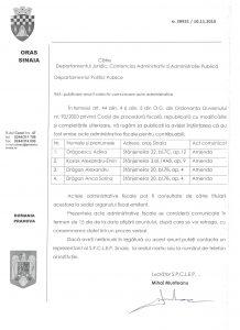 Publicare anunt acte administrative